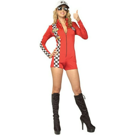 Women's  Adult Red Racer Racing Fan - Car Racer Costume