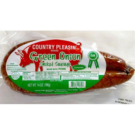 Country Pleasin' Green Onion Smoked Sausage, 14 Oz ...