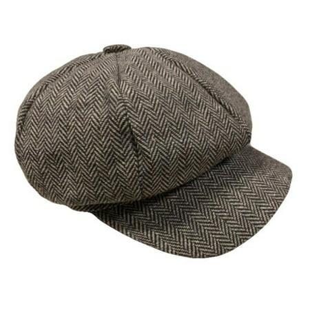 Mens Vintage Cabbie Newsboy Cap Casual Beret Baker Gatsby Golf Driving Flat Hat (Bakers Flats)