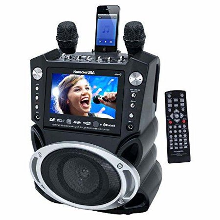 Jskaraoke Gf830 Black Karaoke Player Dve Cd Mp3 With 7 Inch by