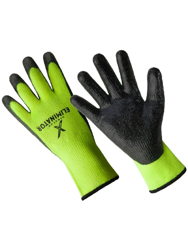 CD9450-L, The Eliminator Premium Lined Smooth Finish Nitrile Coated Glove