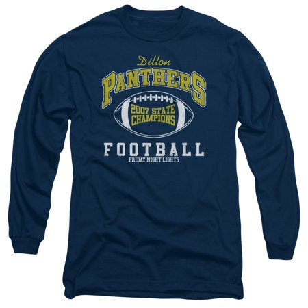 Friday Night Lights State Champs Mens Long Sleeve Shirt NAVY
