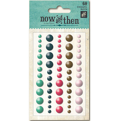 Now and Then Mildred Adhesive Enamel Dots, 60pk, With You
