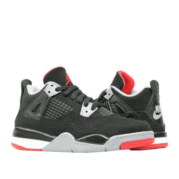 Nike Air Jordan 4 Retro (PS) Bred Little Kids Basketball Shoes BQ7669-060