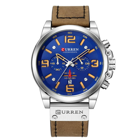 CURREN 8314 Men Watch Quartz Brand Watch Wristwatch Calendar Hour Minute Time Display Leather Watch