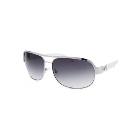 Guess Gf0141-10B-66 Men's Aviator Silver-Tone Grey Gradient Lenses Sunglasses