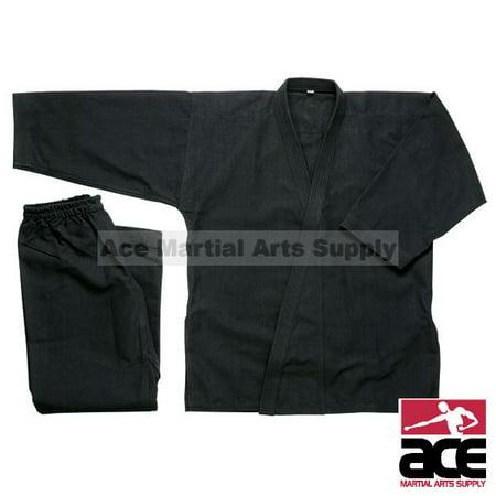 Karate Uniform 10 oz (Medium Weight), Black 10 Ounce Karate Uniform