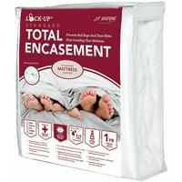 "JT Eaton 83TWENC Fabric Lock-Up Twin Premium Total Encasement Mattress Cover, 75"" Length x 39"" Width, 14"" Thick"