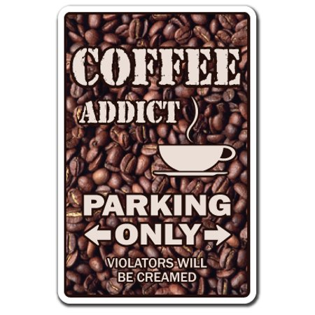 COFFEE ADDICT Decal drinker beans cup shop bar gift brewer grinder lover (Best Coffee Pots On The Market)