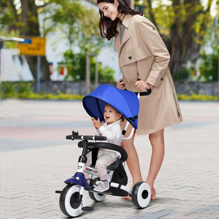 Gymax 4-In-1 Kids Baby Stroller Tricycle Detachable Learning Toy Bike - image 1 de 10