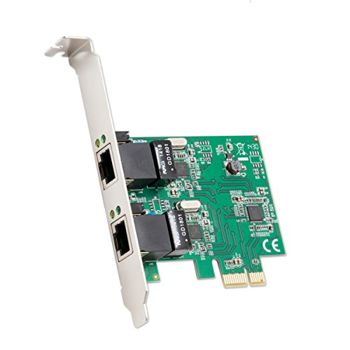 Syba Multimedia 2-port Ethernet Pcie X1 Card - Pci Express X1 - 2 Port[s] - 2 (sd-pex24041)