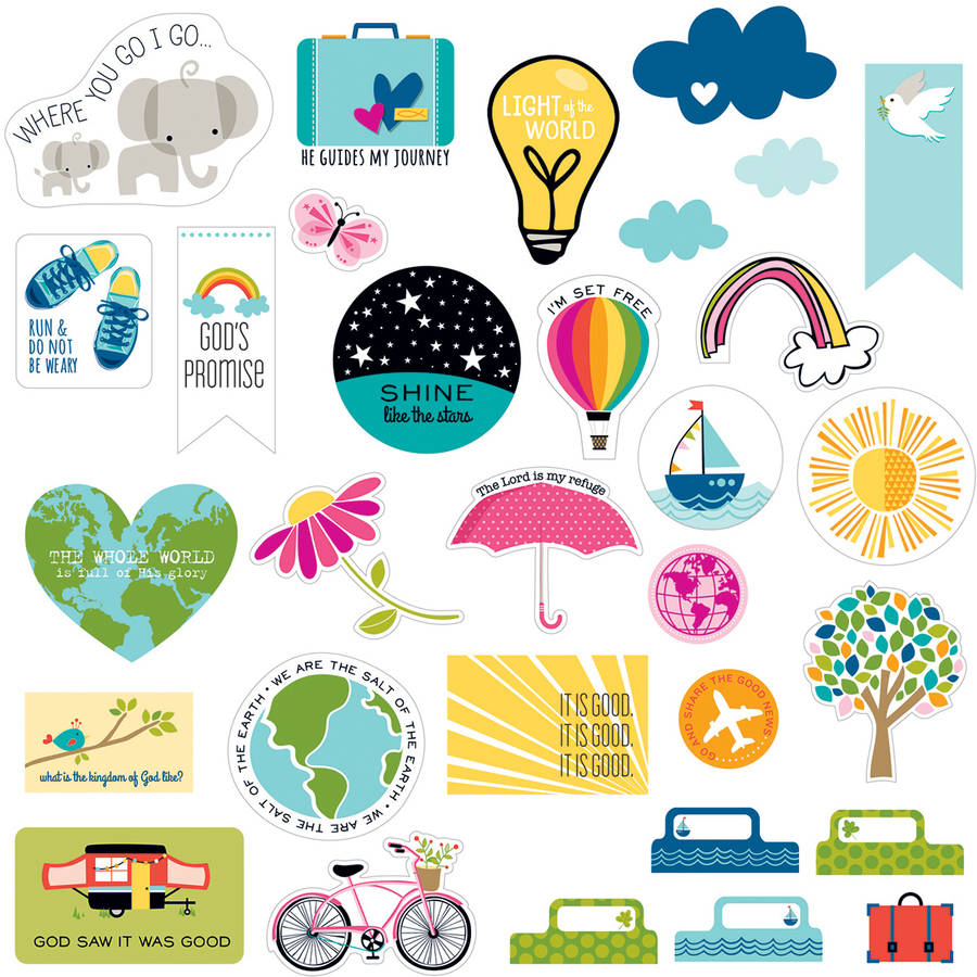 Bella Blvd Illustrated Faith Basics Paper Pieces Cardstock Die-Cuts-Pop Culture