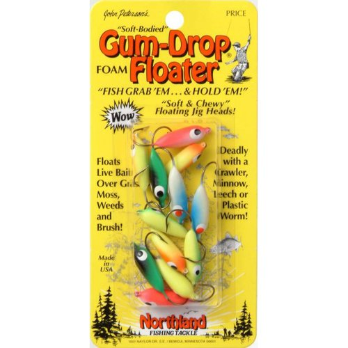 Northland Tackle Gum-Drop Floater #2, Assorted