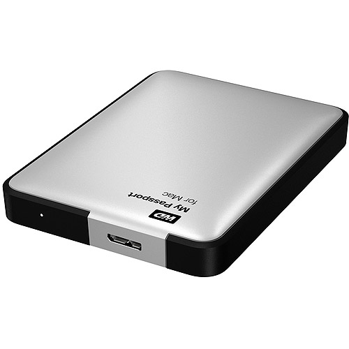 WD WDBGCH5000ASL My Passport 500GB External USB 3.0/2.0 Portable Hard Drive - Silver