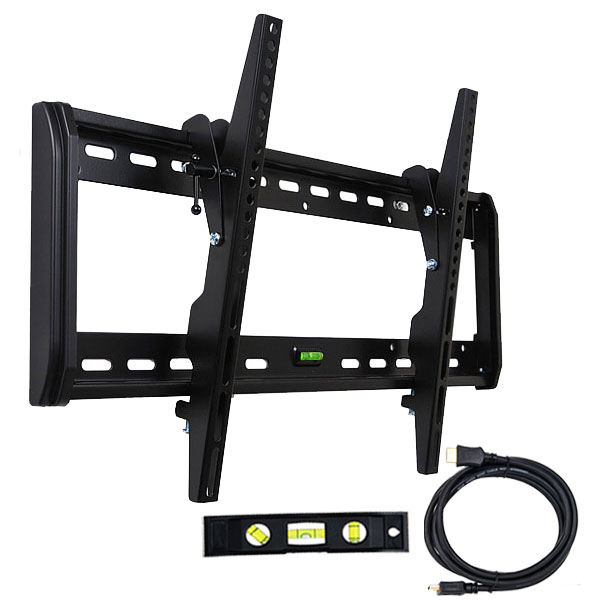 "VideoSecu Tilt TV Wall Mount for 32 40 42 47 48 50 51 55 58 60 65"" LCD LED Plasma UHD DTV Flat Panel Screen Display M33"