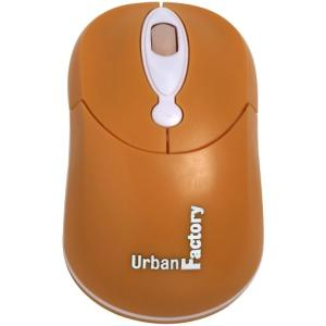 CRAZY MOUSE ORANGE OPTICAL USB WIRED MOUSE 800DPI