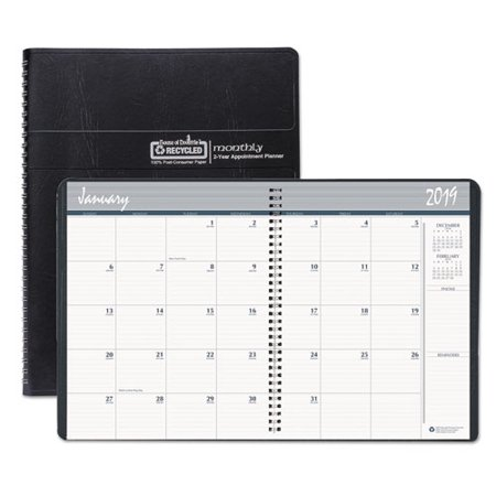 House of Doolittle™ RECYCLED 24-MONTH RULED MONTHLY PLANNER, 8 1/2 X 11, BLACK, 2019-2020 ()