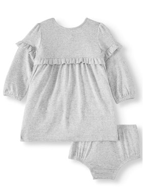 Wonder Nation Baby Girl Hacci Dress With Diaper Cover