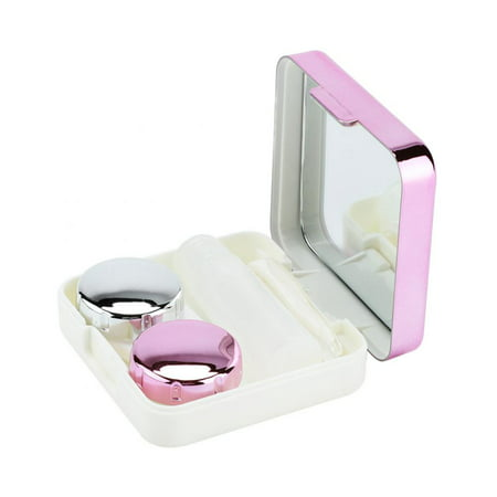 VBESTLIFE Reflective Cover Contact Lens Case Set Cute Lovely Travel Kit Box,Contact Lens Box,Lens