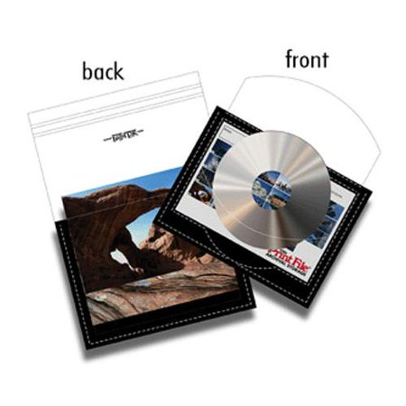 CD/DVD Archival Storage Page, Holds 1-CD/DVD and/or a 4x6 Index Card in Front Pocket, and 36-4x6 prints in Back Pocket. Pack of 250