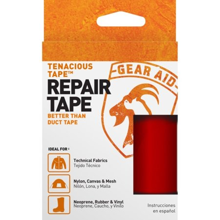 Red Tenacious Tape Ultra Strong Tent Repair Tape 3 inch x 20 inch