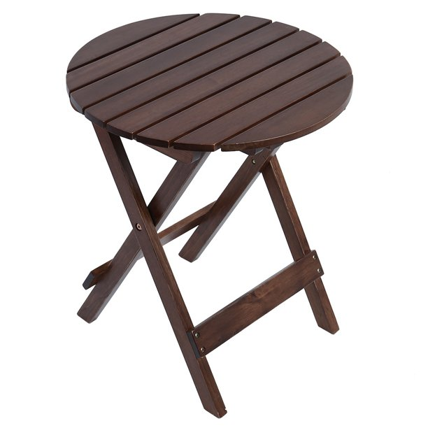 Bouanq Tray End Table Sofa Table Small Round Side Tables Wood Outdoor Indoor Snack Table Coffee Table Walmart Com Walmart Com
