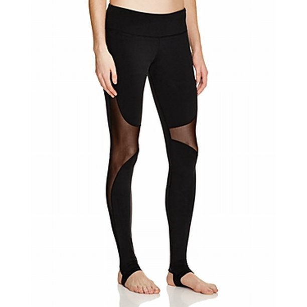 Alo Yoga NEW Black Womens Small S Mesh-Panel Coast Legging Pants