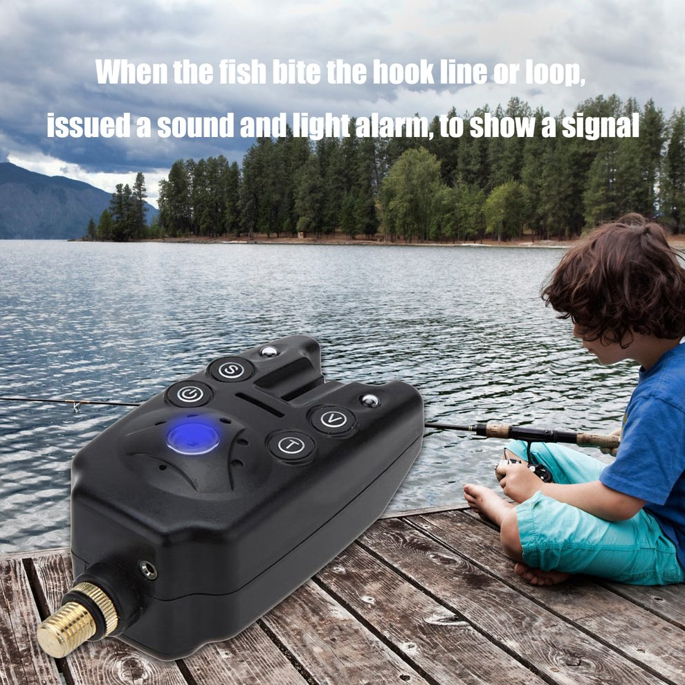 JY-1-3 Electronic Fishing Alarm 3 Boxed Sea Pole Support ...