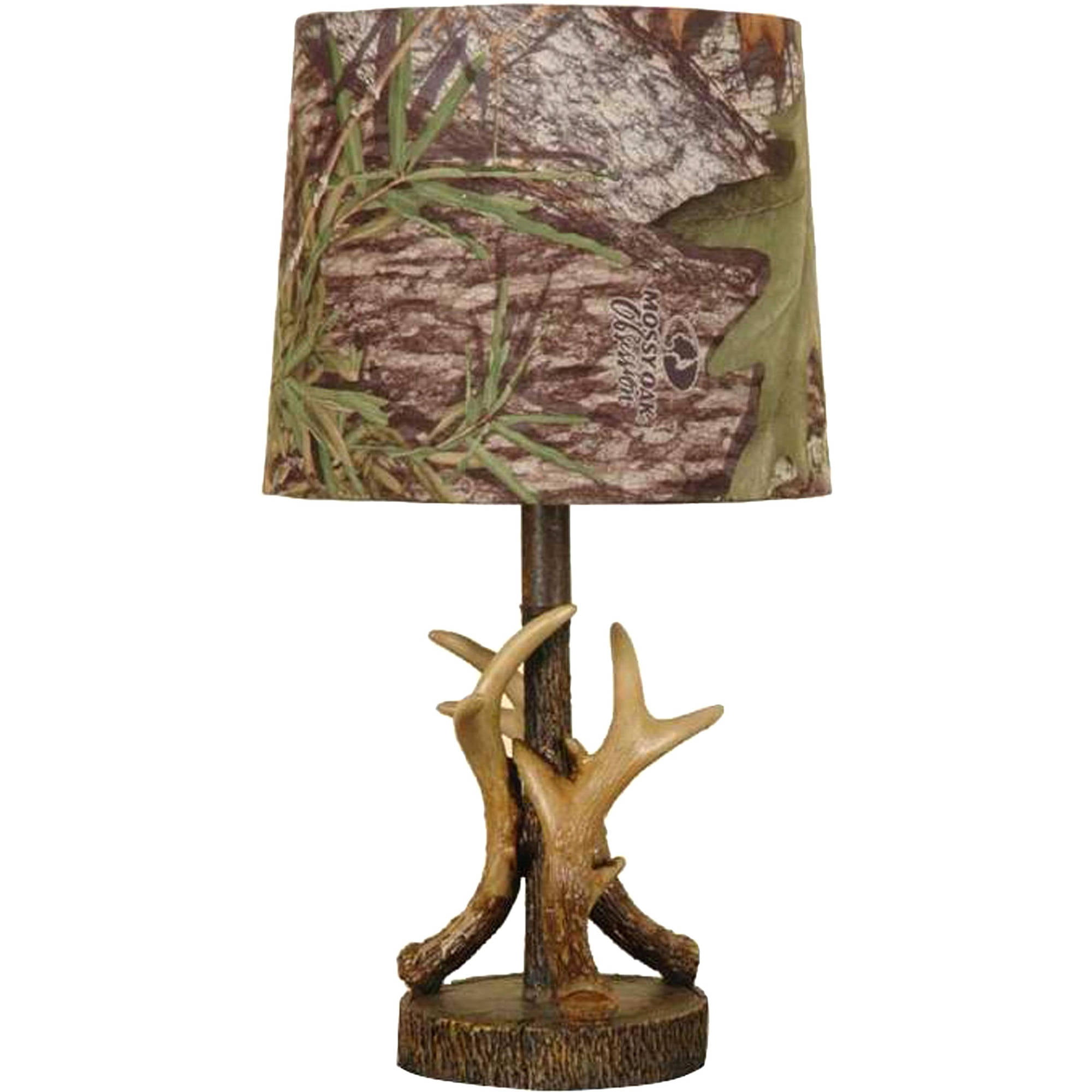 mossy oak deer antler accent lamp, dark woodtone - walmart