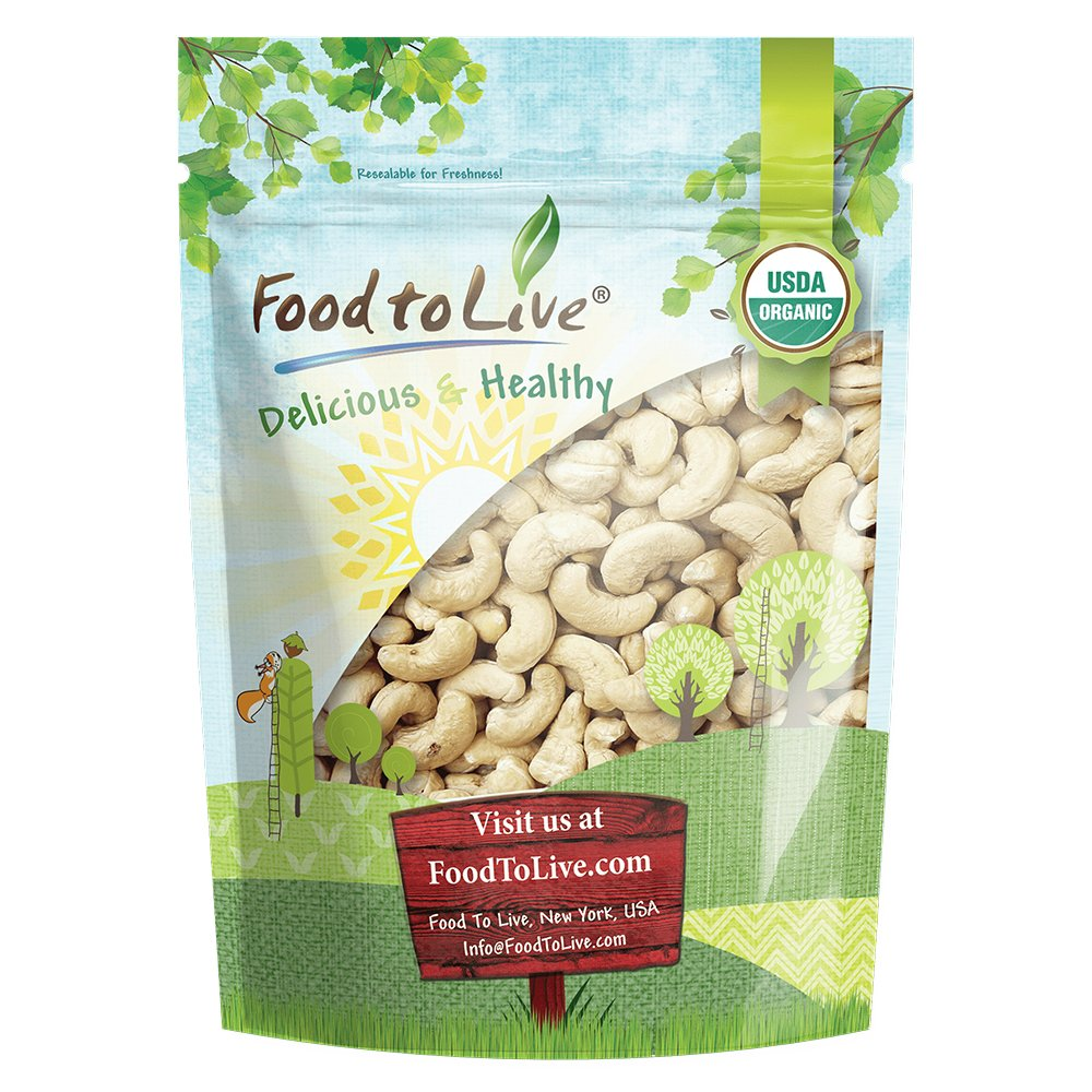 Food To Live ® Organic Cashews (Whole, Raw) (2 Pounds)