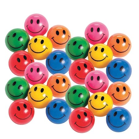 Rubber Smile Face Bouncing Balls - Pack Of 24 - 1 Inch Assorted Colors - Mini Smiley Hi-Bounce Balls – For Kids Boys And Girls Great Party Favors, Bag Stuffers, Fun, Toy, Gift, Prize – By Kidsco](Bouncing Balls Noise)