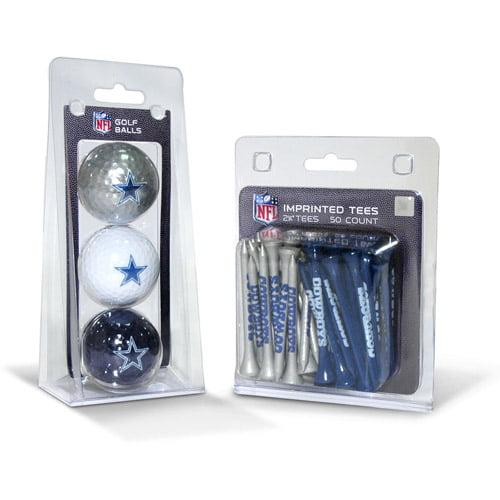 Team Golf NFL Dallas Cowboys 3 Golf Balls And 50 Golf Tees