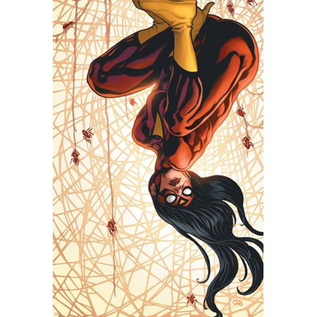 The New Avengers No.15 Cover: Spider Woman Print Wall Art By Frank Cho
