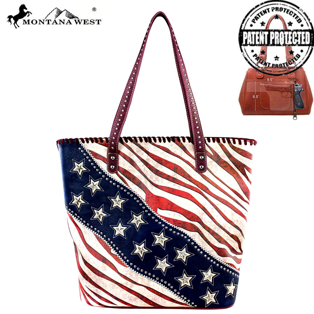 US12G-8317 Montana West American Pride Concealed Handgun Collection Tote Bag