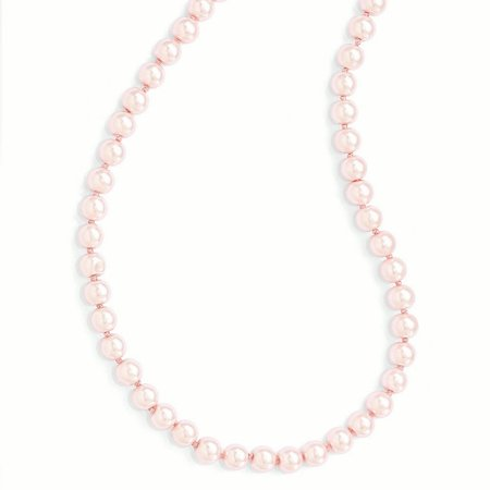8mm Pink Simulated Pearl Cord Necklace