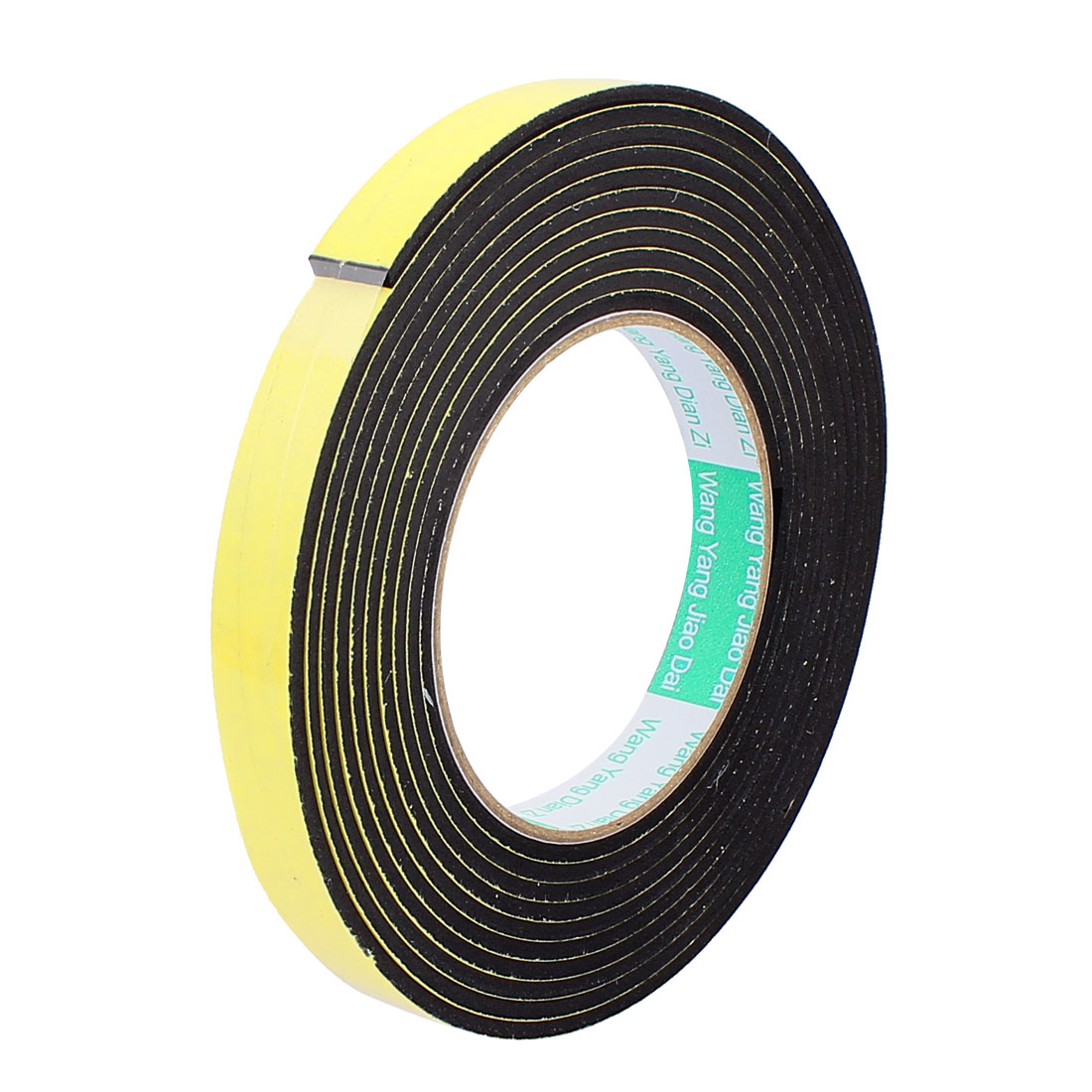 "0.59"" Width 4M Length 3MM Thick Single Sided Sealing Shockproof Sponge Tape"