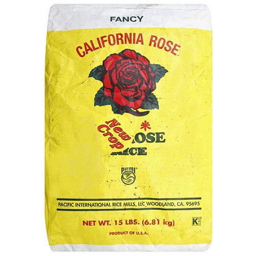 California rose rice