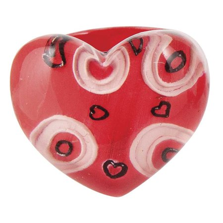Ganz Red Heart Rings  Heart Valentines Ring   Valentines Fashion Ring - Rings For Valentine's Day