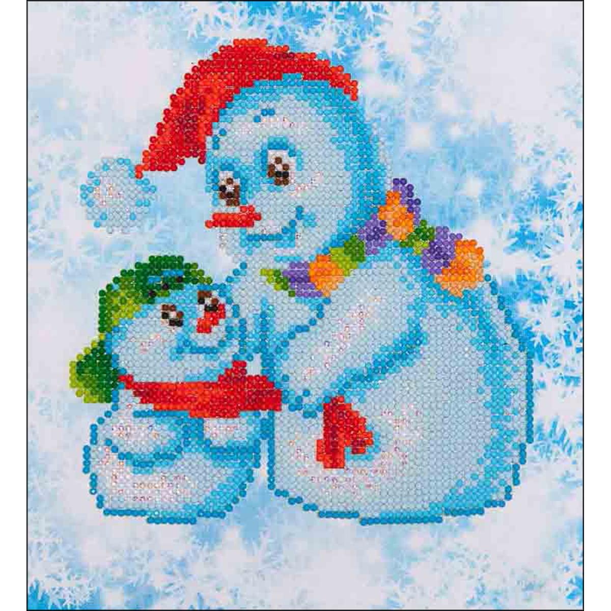 """Diamond Dotz Diamond Embroidery Facet Art Kit 11""""X11.75""""-Snow Family"""