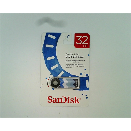 SanDisk Cruzer Dial USB Flash Drive 32 GB (Blue Wave)