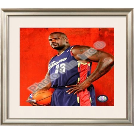 Shaquille Oneal Frame (Shaquille O'Neal Framed Photographic Print Wall Art  - 29x33 )