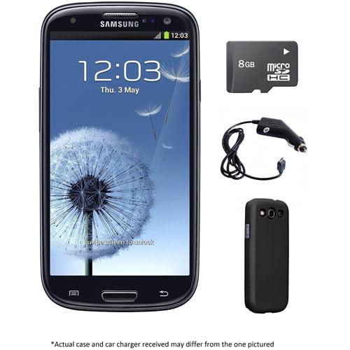 Samsung Galaxy S III I9300 GSM Phone - Black (Unlocked) + 8GB microSD card