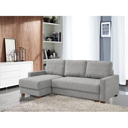 Lucas Serta® 3-Seat Functional Sectional Sofa w/ Storage, Light (Best Fabric Sectional Sofa)