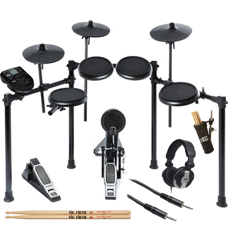 Alesis Nitro Kit Electronic Drum Set with Sticks + Holder + Headphone + Cables by inMusic Brands Inc.