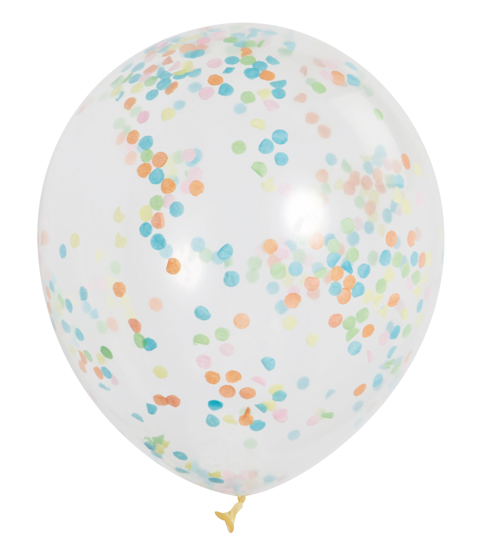 Latex Confetti Balloons, 12 in, Bright Multicolor, 6ct