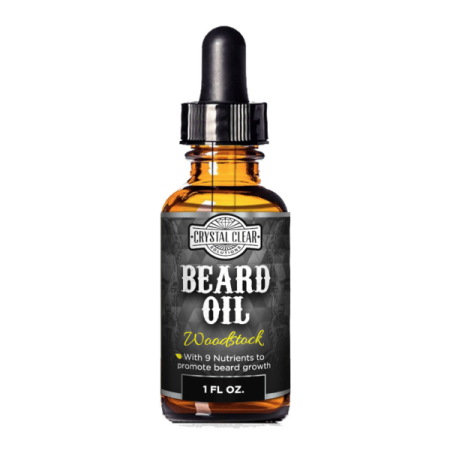CCS Beard Oil Growth for Men, Leave-In Conditioner Softener for Dry and Sensitive Facial Hair, Woodstock Scented 1 fl. oz - Halloween Facial Hair Tough Guy