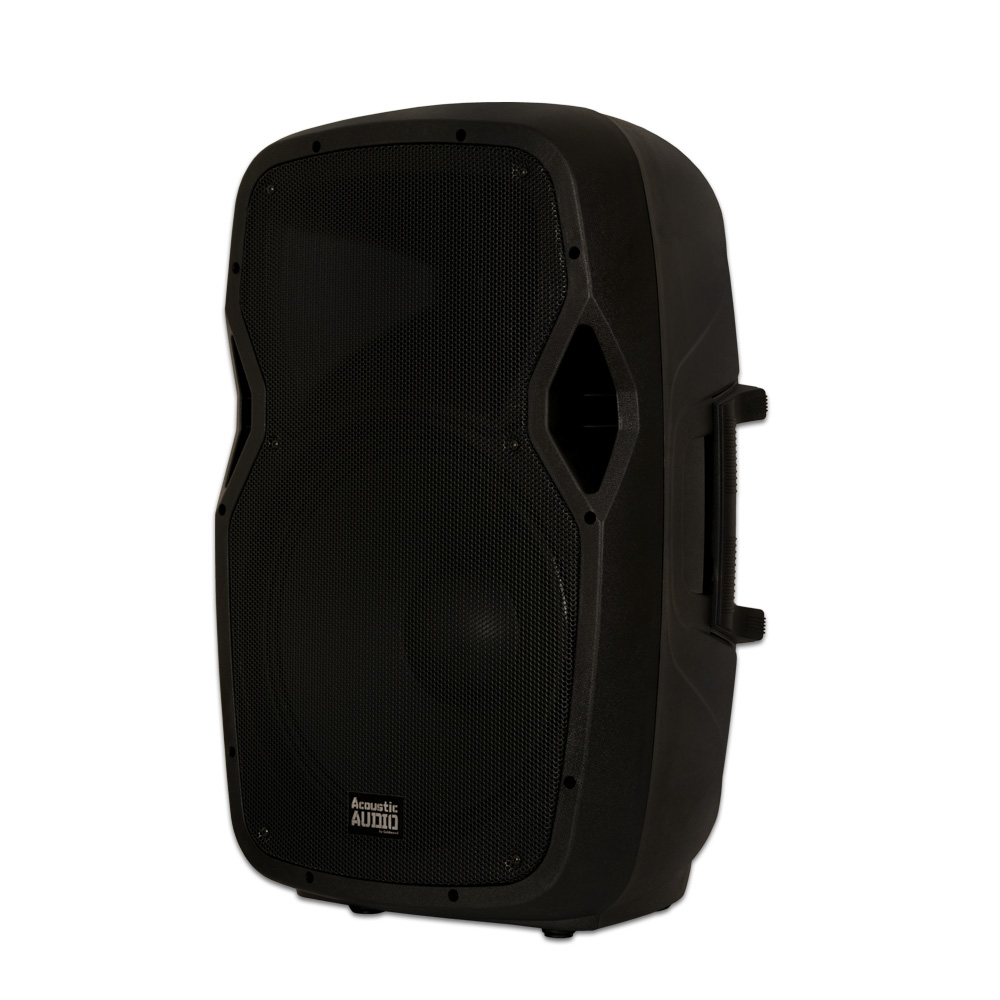 """Image of Acoustic Audio AA15BT Powered 1000 Watts 15"""" Bluetooth Speaker 2 Way USB MP3 Player"""