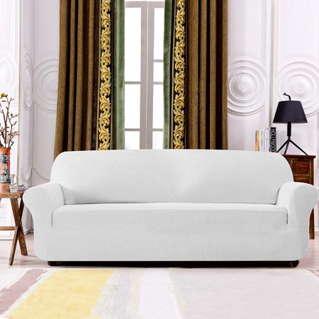 Excellent Subrtex 1 Piece Juacquard High Stretch Couch Slipcover Furniture Protector Spandex Washable 3 Seater Cushion Cover Coat Sofa Off White Ocoug Best Dining Table And Chair Ideas Images Ocougorg