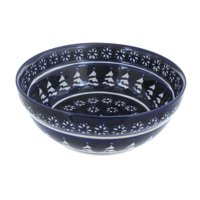Polish Pottery Winter Nights Cereal/Soup Bowl