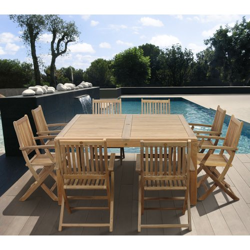 International Home Miami Amazonia Teak Cleveland 9 Piece Dining Set